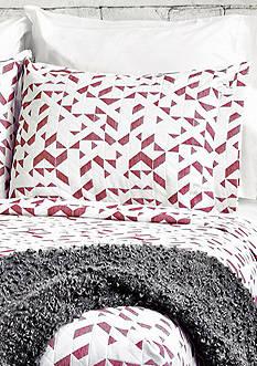 Lamont Home® Kinetic Standard Sham Red/White