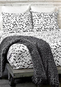 Lamont Home® Kinetic Twin Coverlet Black/White