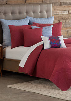 Home Accents Mandala Nantucket Red King Quilt