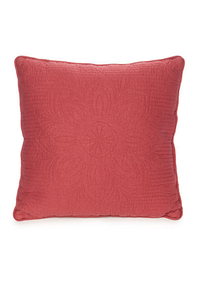 Home Accents® Casual Living Mandala Nantucket Red Quilted Decorative Pillow