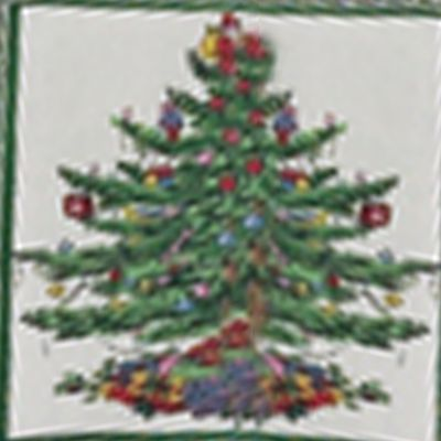 Discount Table Linens: Green Spode XMAS TREE 52X70