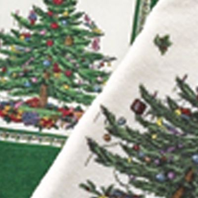 Discount Table Linens: Ivory Spode XMAS TREE 52X70