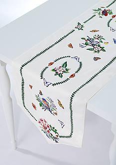 Avanti Botanic Garden Birds Table Runner 14-in. x 90-in.