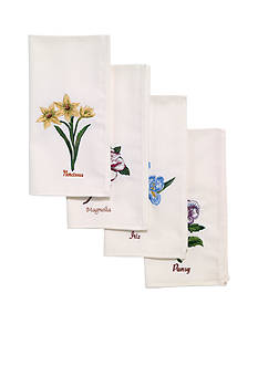 Avanti Botanic Garden 4 piece napkin set