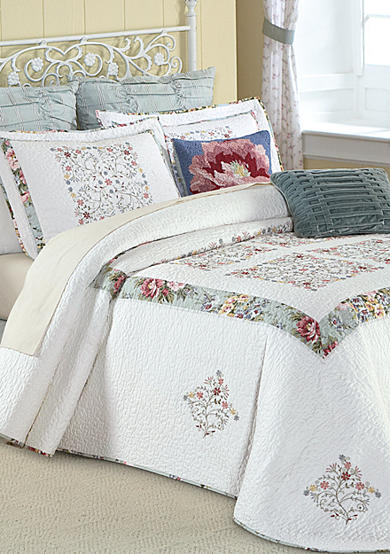 MaryJane's Home Precious Peony Quilted Bedspread Collection