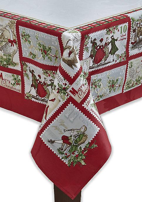 Fraiche Maison 12 Days Of Christmas Tablecloth Belk