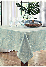Lenai Teal Round Tablecloth 70-in.