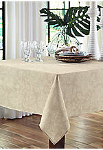 Lenai Khaki Round Tablecloth 70-in.