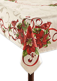 Fraiche Maison Christmas Cardinals Tablecloth