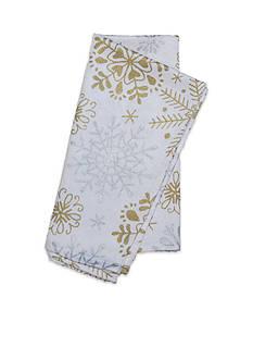 Fraiche Maison Snowflakes Metallic Print Napkin