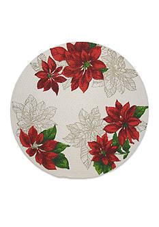 Fraiche Maison Poinsettia Stencil Round Placemat