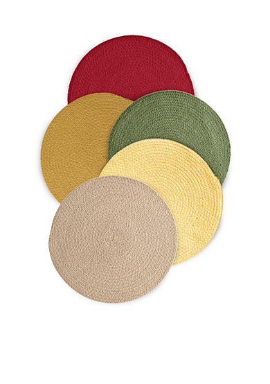 Suntex Chelsea Braided Round Placemat and Napkin