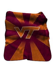 Logo Virginia Tech Hokies Raschel Throw