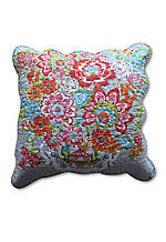 Blissful Bouquest Reversible Decorative Pillow, 18in. x 18in.