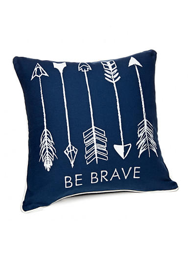 Ivy Hill Home Be Brave Decorative Pillow - Belk.com