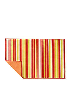 Fiesta Vertical Stripe Dish Drying Mat - Sunflower