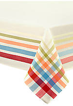 Plaid Multi-Colored Tablecloth 60-in. x 102-in.