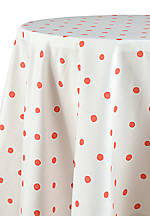Charlotte Street Coral Round Tablecloth  70-in. Round