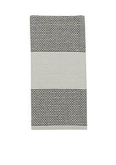 kate spade new york® Honeycomb Stripe Flaxseed Kitchen Towel