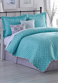 Home Accents® Braden Turnstyles Reversible 6-Piece Quilt Set