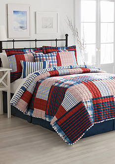 Home Accents® Turnstyles Duval Reversible 6-Piece Quilt Set