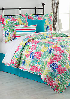 Home Accents Pineapple Punch Twin Reversible 5-Piece Bed-In-A-Bag