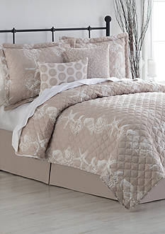 Home Accents Turnstyles Sea Breeze Reversible 6-Piece Quilt Set