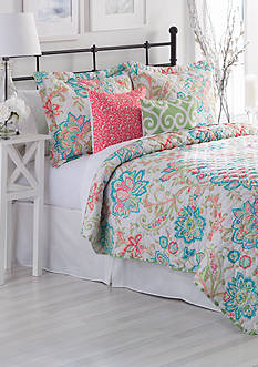 Home Accents® Springvale Turnstyles Reversible 6-Piece Quilt Set