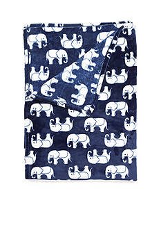 Home Accents PLUSH BLANKET ELEPHANT KING