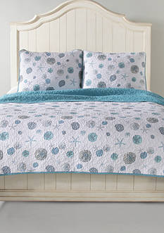 Panama Jack Sand Dollar Full/Queen Quilt Set