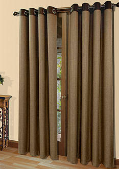 Commonwealth Home Fashions HARRISON GRMMT PNL CHOCOLATE 84IN