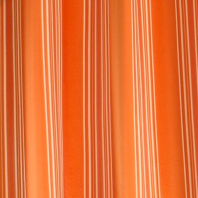 Patterned Curtains: Orange Commonwealth Home Fashions GAZEBO STRIPE OUTDR GRMMT PNL KHAKI 84IN