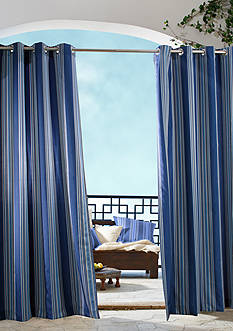 Commonwealth Home Fashions GAZEBO STRIPE OUTDR GRMMT PNL BLUE 84IN