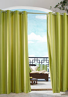 Commonwealth Home Fashions GAZEBO STRIPE OUTDR GRMMT PNL GREEN 96IN