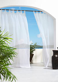 Commonwealth Home Fashions ESCAPE OUTDR GRMMT PNL WHT 84IN