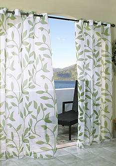 Commonwealth Home Fashions ESCAPE LF OUTDR GRMMT PNL GREEN 84IN