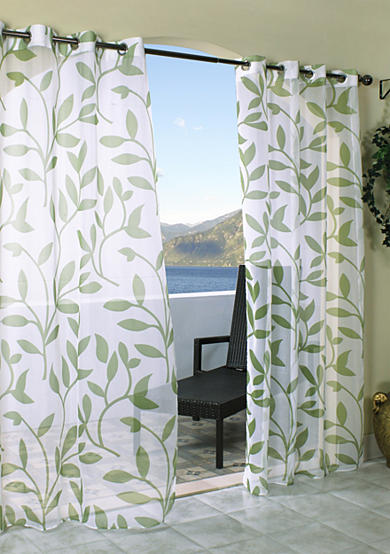 Commonwealth Home Fashions Escape Leaf Outdoor Window Panel - Online Only