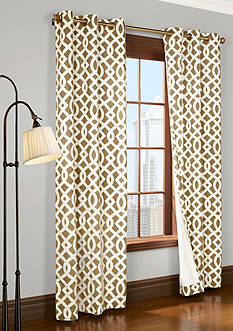Commonwealth Home Fashions TRELLIS GRMMT PNL PR KHKI 72IN