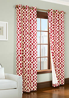 Commonwealth Home Fashions TRELLIS GRMMT PNL PR RED 84IN