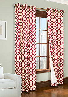 Commonwealth Home Fashions TRELLIS GRMMT PNL PR RED 95IN