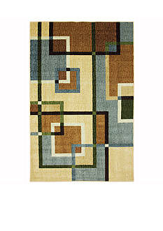 Mohawk Home OVERLAPPING SQUARES PRINTED RUG (2'X8')