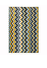 Ziggidy Yellow Area Rug 5' x 8'