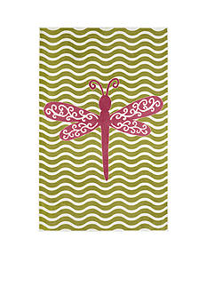 Mohawk Home Dreamy Dragon Fly Hot Pink Area Rug