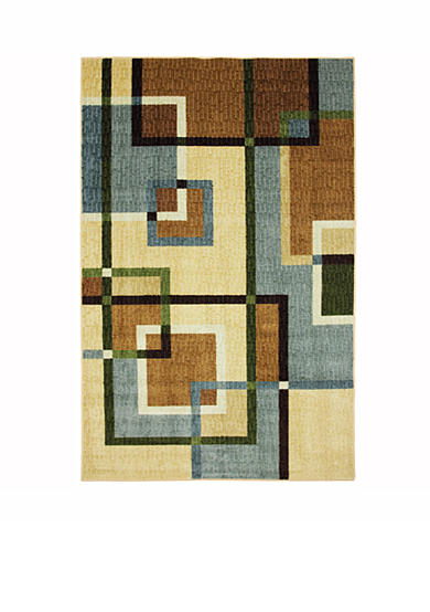 Mohawk Home Overlapping Squares Printed Rug