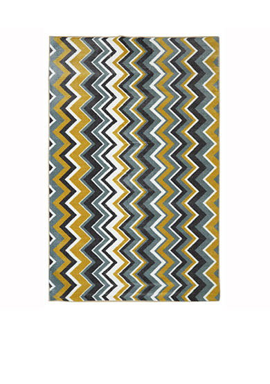 Mohawk Home Ziggidy Yellow Area Rug