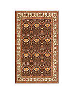 Persian Garden Meadow Cocoa Area Rug 2' x 3'