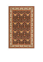 Persian Garden Meadow Cocoa Area Rug 5' x 8'
