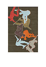 Lil Mo Hipster Skater Concrete Area Rug 5' x 3'