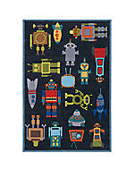 Lil Mo Robots Area Rug 2' x 3'