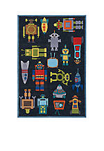 Lil Mo Robots Area Rug 4' x 6'